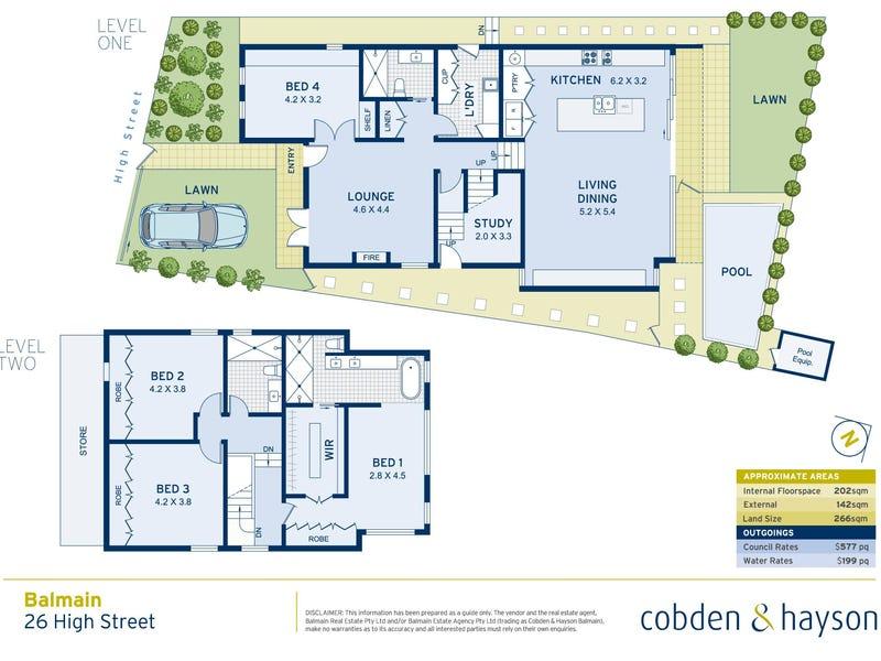 26 High Street, Balmain, NSW 2041 - floorplan