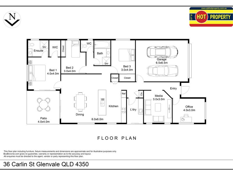 36 Carlin Street, Glenvale, Qld 4350 - floorplan