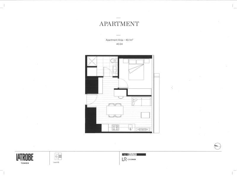 4004/327 La Trobe Street, Melbourne, Vic 3000 - floorplan