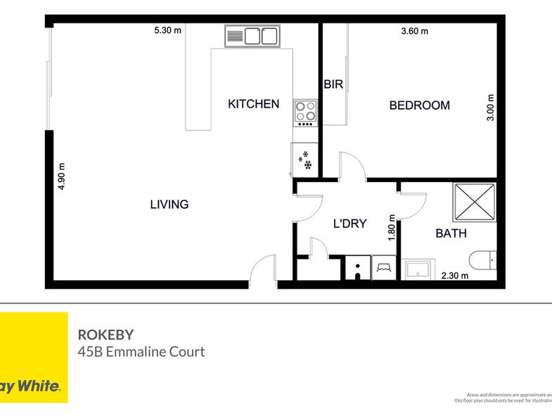 45B Emmaline Court, Rokeby, Tas 7019 - floorplan