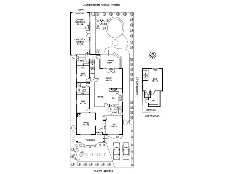 3 Shakespeare Avenue, Preston, Vic 3072 - floorplan