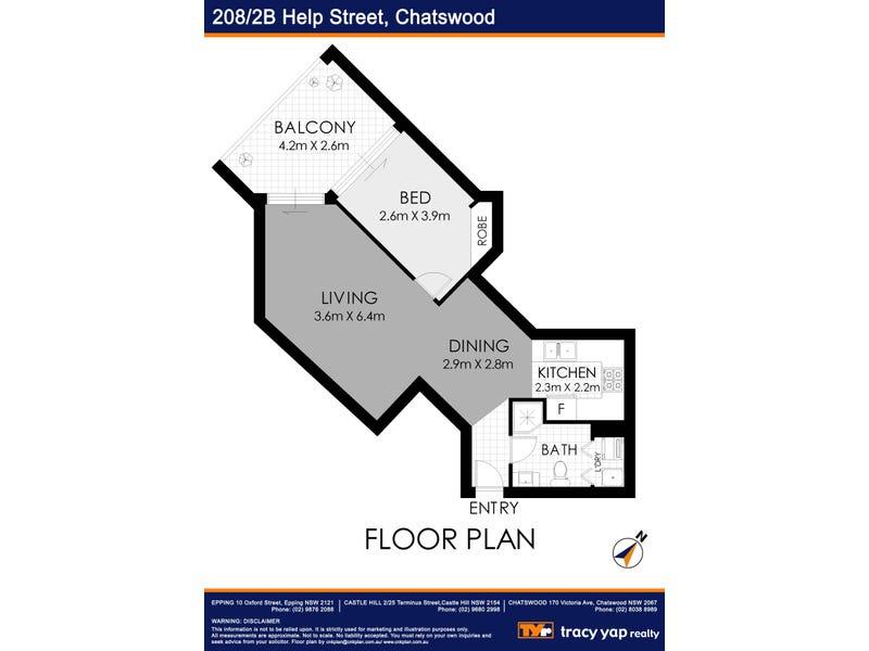 208/2B Help Street, Chatswood, NSW 2067 - floorplan