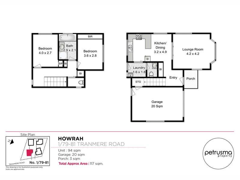 1/79-81 Tranmere Road, Howrah, Tas 7018 - floorplan