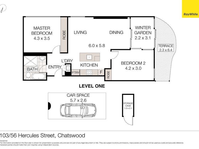 103/56 Hercules Street, Chatswood, NSW 2067 - floorplan