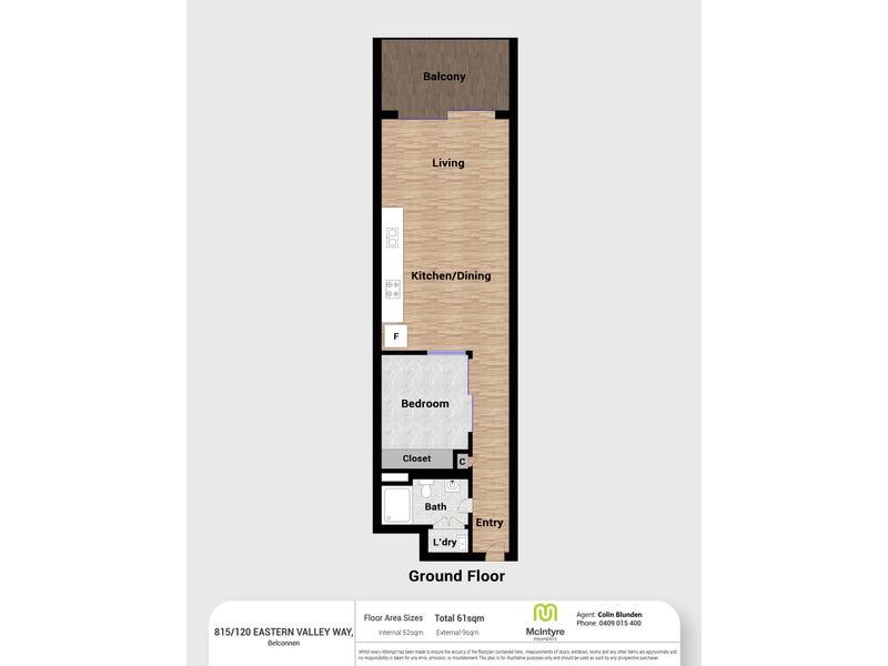 815/120 Eastern Valley Way, Belconnen, ACT 2617 - floorplan