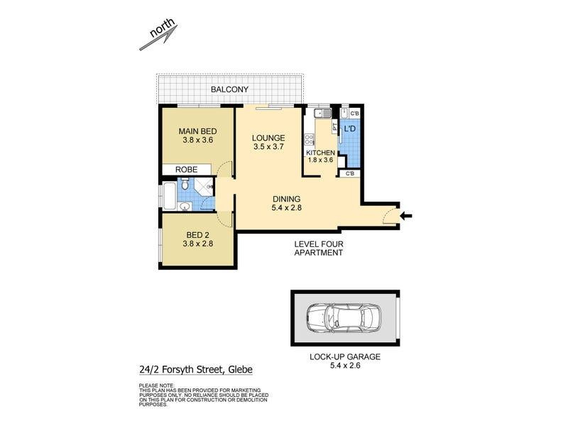 24/2 Forsyth Street, Glebe, NSW 2037 - floorplan