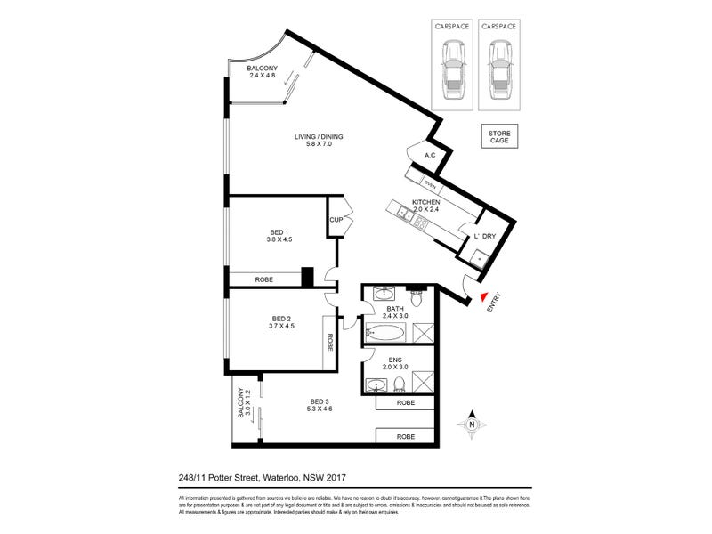 248/11 Potter Street, Waterloo, NSW 2017 - floorplan