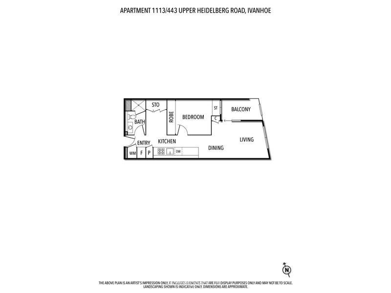 1113/443 Upper Heidelberg Road, Ivanhoe, Vic 3079 - floorplan