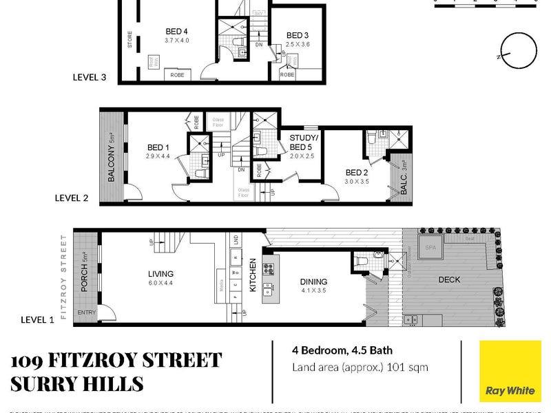 109 Fitzroy Street, Surry Hills, NSW 2010 - floorplan