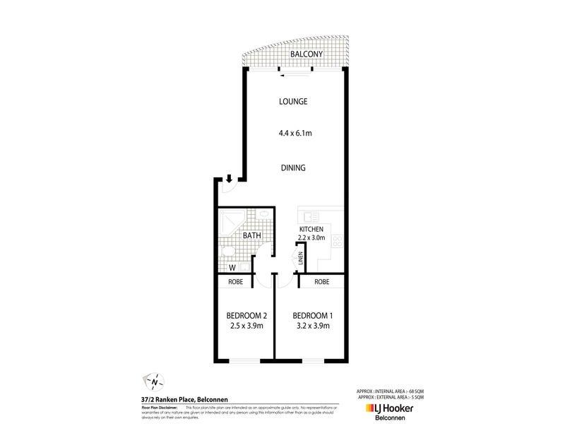 37/2 Ranken Place, Belconnen, ACT 2617 - floorplan