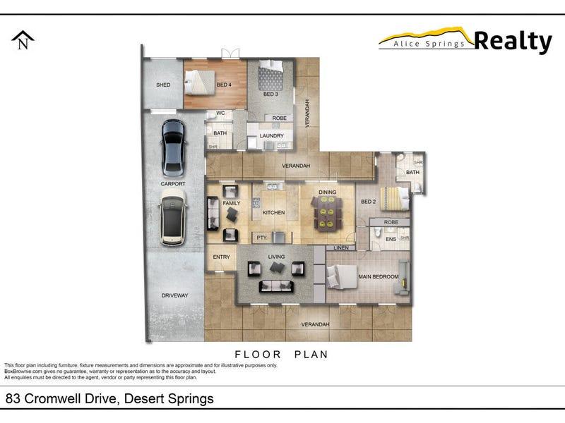 83 Cromwell Drive, Desert Springs, NT 0870 - floorplan