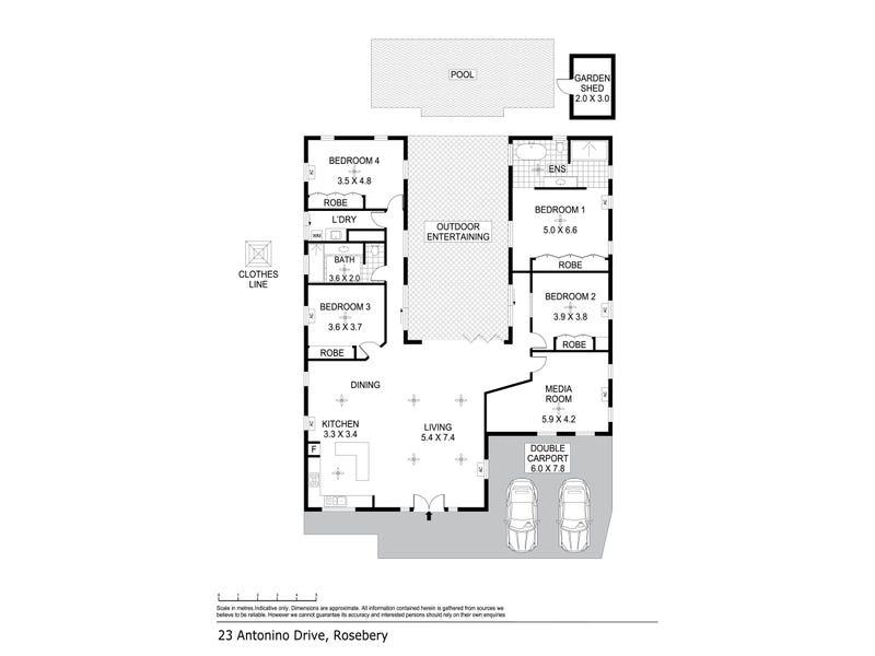 23 Antonino Drive, Rosebery, NT 0832 - floorplan
