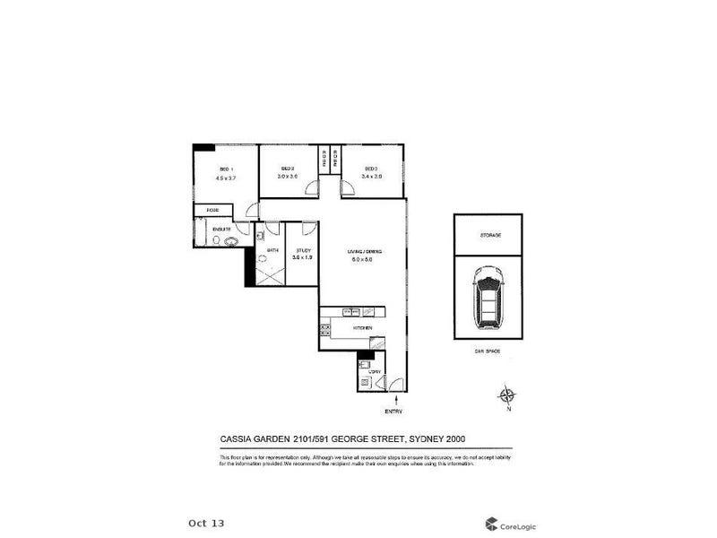 2101/591 George Street, Sydney, NSW 2000 - floorplan