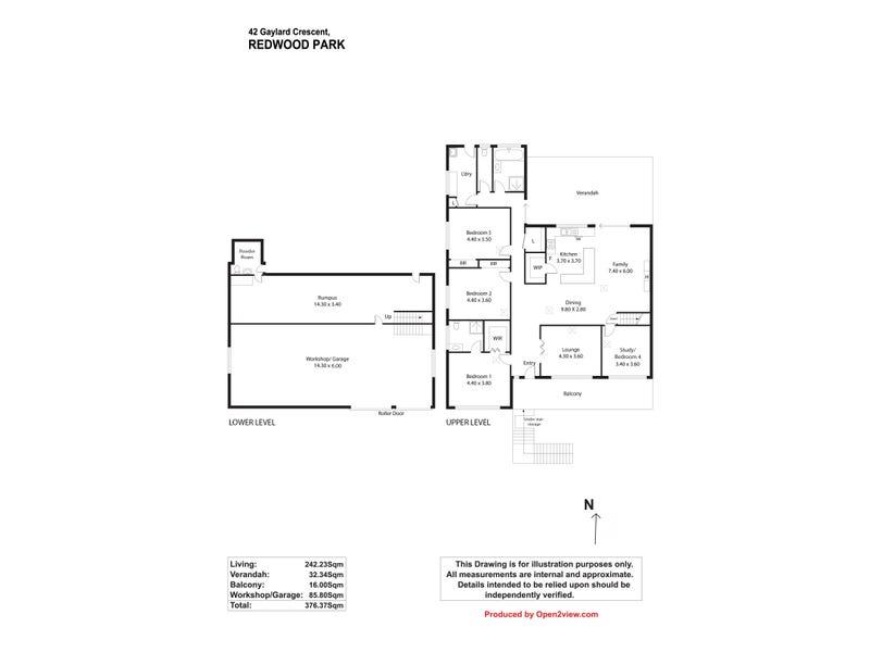 42 Gaylard Cr, Redwood Park, SA 5097 - floorplan