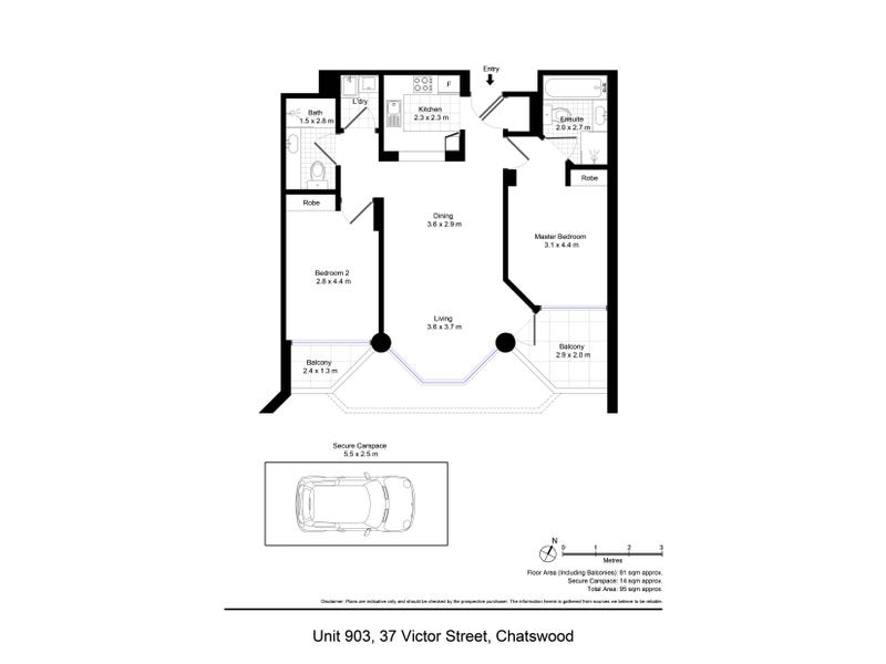 903/37 Victor Street, Chatswood, NSW 2067 - floorplan