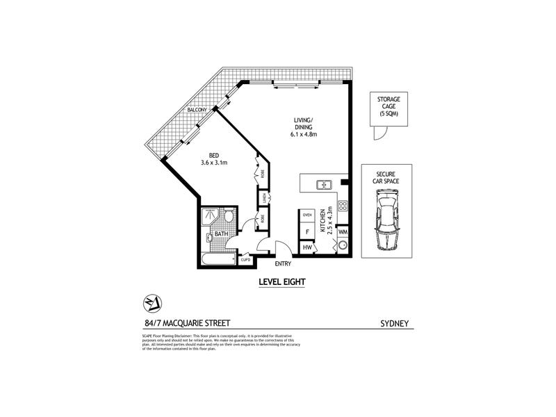 84/7 Macquarie Street, Sydney, NSW 2000 - floorplan