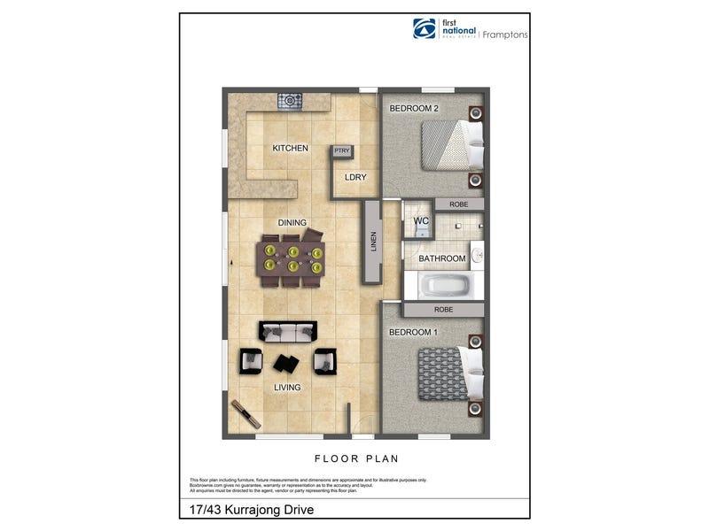 17/43 Kurrajong Drive, East Side, NT 0870 - floorplan