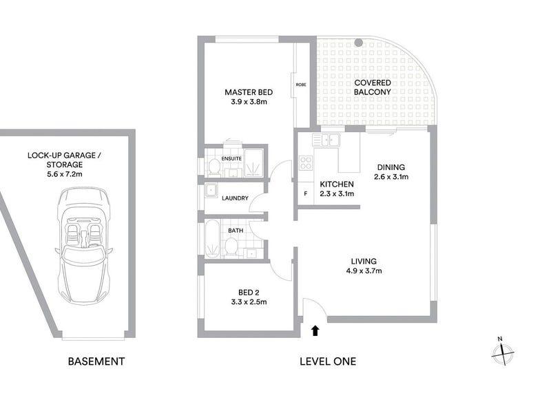 7/5-7 Ruth Street, Naremburn, NSW 2065 - floorplan