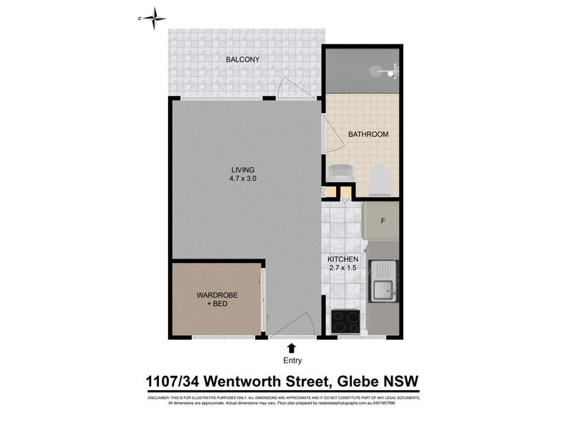 1107/34 WENTWORTH STREET, Glebe, NSW 2037 - floorplan