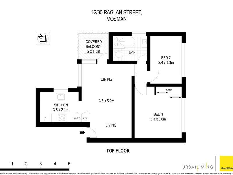 12/90 Raglan Street, Mosman, NSW 2088 - floorplan