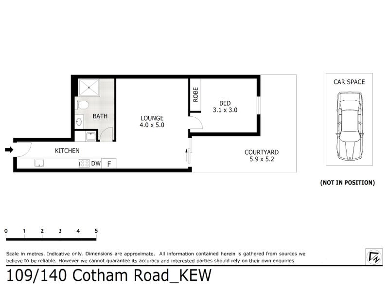 109/140 Cotham Road, Kew, Vic 3101 - floorplan