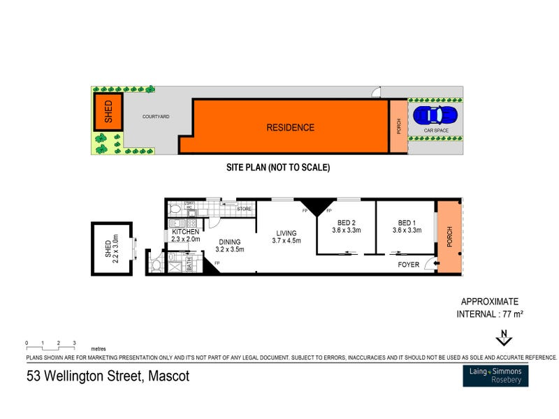 53 Wellington Street, Mascot, NSW 2020 - floorplan
