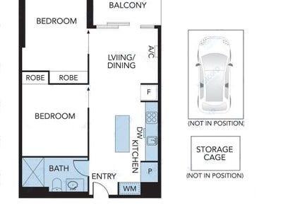 4410/33 Rose Lane, Melbourne, Vic 3000 - floorplan