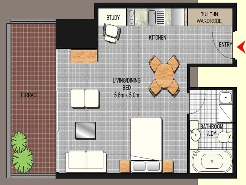 1813/91 Liverpool Street, Sydney, NSW 2000 - floorplan