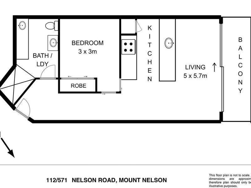 112/571 Nelson Road, Mount Nelson, Tas 7007 - floorplan