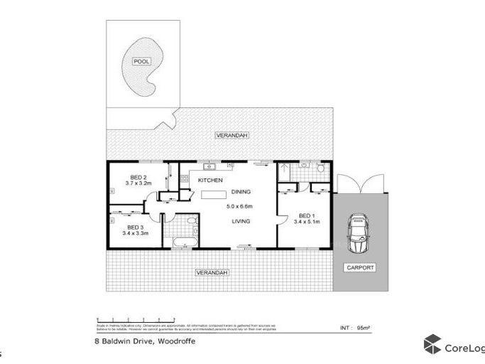 8  Baldwin Drive, Woodroffe, NT 0830 - floorplan