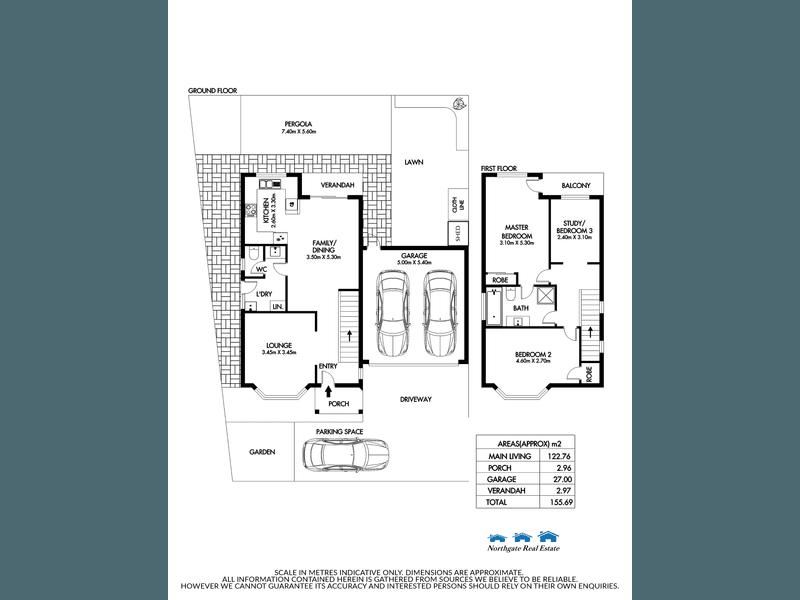 Unit 1/14 Tiffany Ct, Ingle Farm, SA 5098 - floorplan