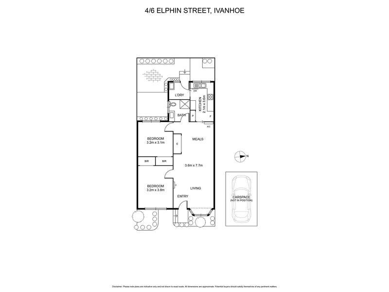 4/6 Elphin Street, Ivanhoe, Vic 3079 - floorplan