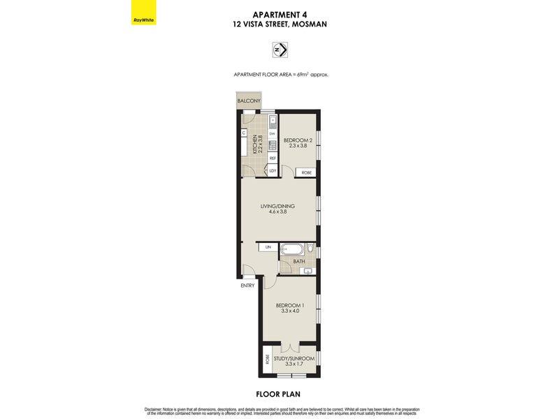 4/12 Vista Street, Mosman, NSW 2088 - floorplan