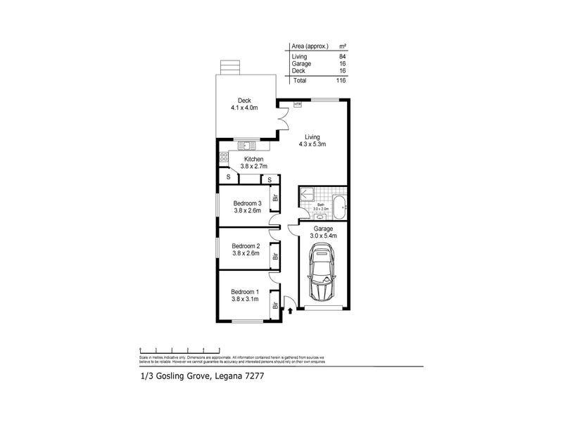 1/3 Gosling Grove, Legana, Tas 7277 - floorplan