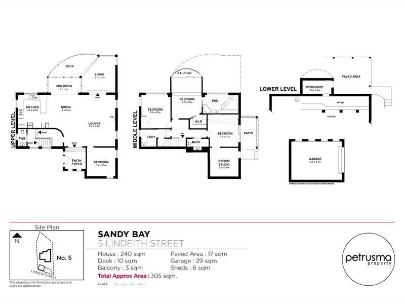 5 Lindeith Court, Sandy Bay, Tas 7005 - floorplan