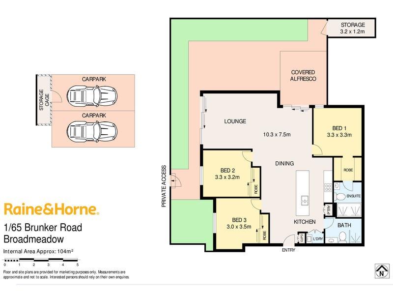 1/65 Brunker Road, Broadmeadow, NSW 2292 - floorplan