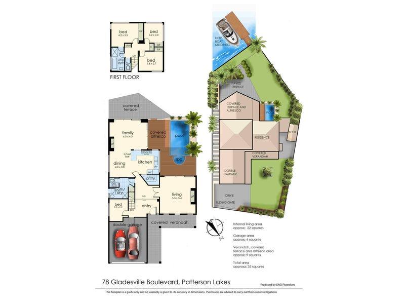 78 Gladesville Boulevard, Patterson Lakes, Vic 3197 - floorplan