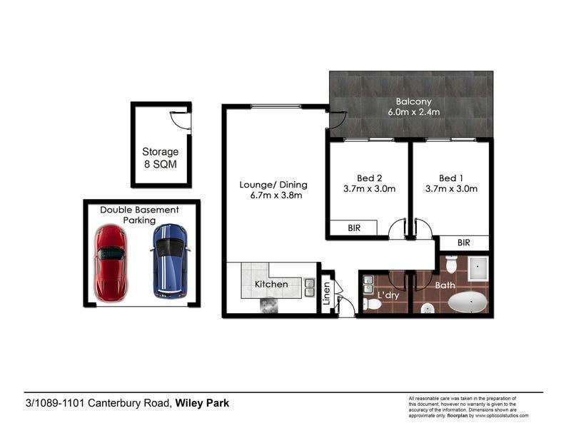 3/1089-1101  Canterbury Road, Wiley Park, NSW 2195 - floorplan
