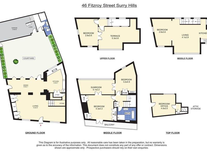 46 Fitzroy Street, Surry Hills, NSW 2010 - floorplan
