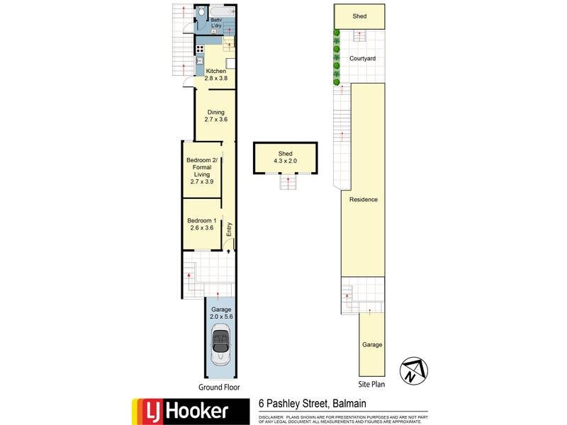 6 Pashley Street, Balmain, NSW 2041 - floorplan