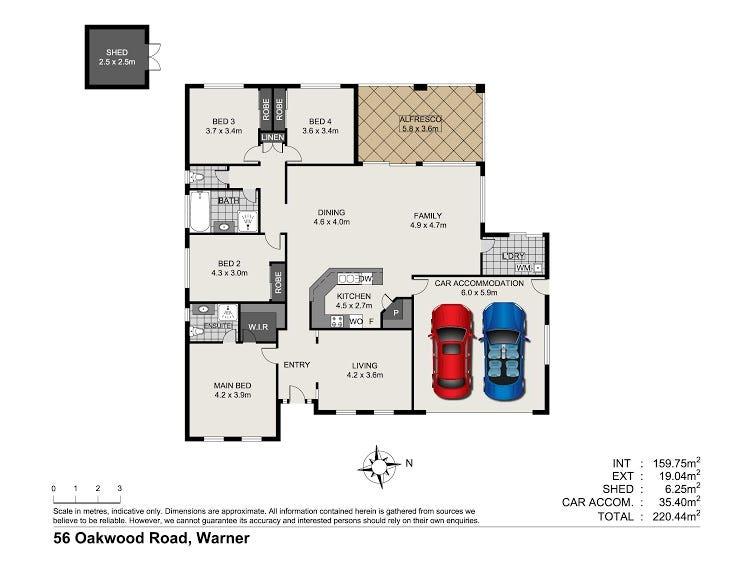 56 Oakwood Road, Warner, Qld 4500 - floorplan