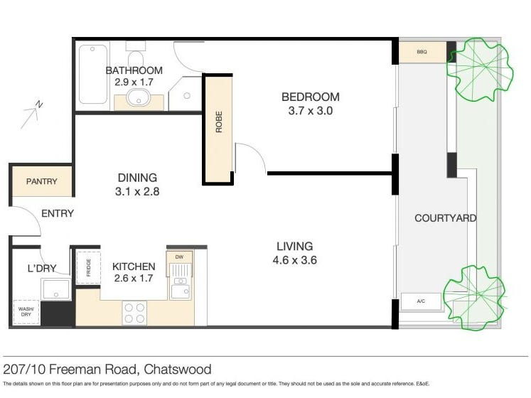 207/10 Freeman Road, Chatswood, NSW 2067 - floorplan