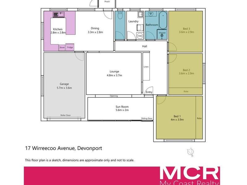 17 Wirreecoo Avenue, Devonport, Tas 7310 - floorplan