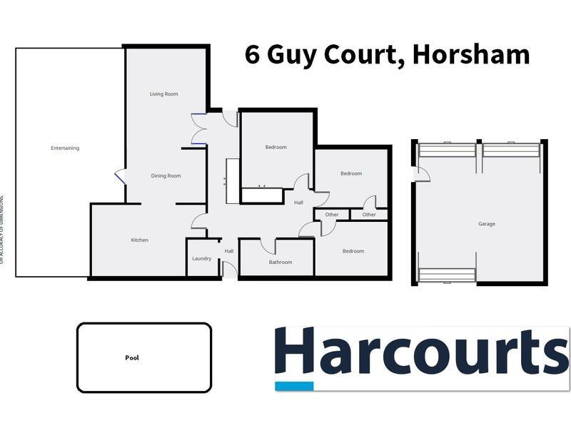 6 Guy Court, Horsham, Vic 3400 - floorplan