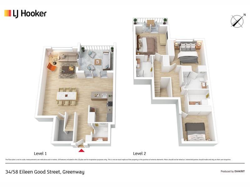 34/58 Eileen Good Street, Greenway, ACT 2900 - floorplan