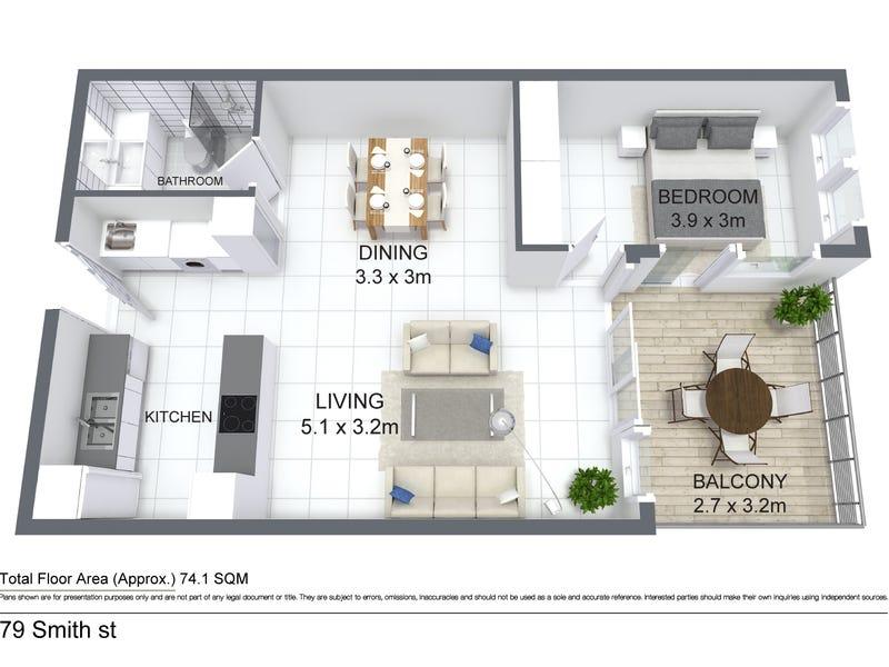 1010/79 Smith Street, Darwin City, NT 0800 - floorplan