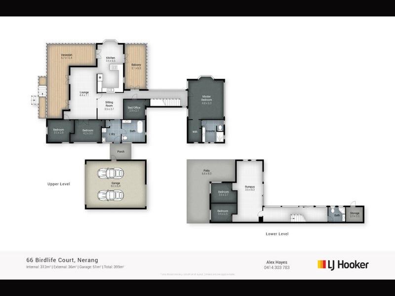 66 Birdlife Court, Nerang, Qld 4211 - floorplan