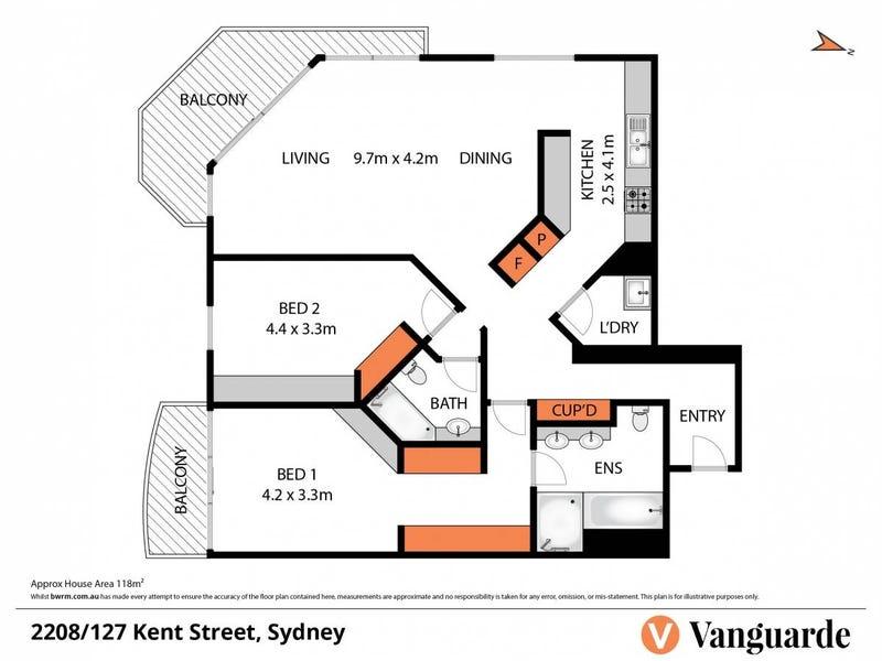 2208/127 Kent Street, Sydney, NSW 2000 - floorplan