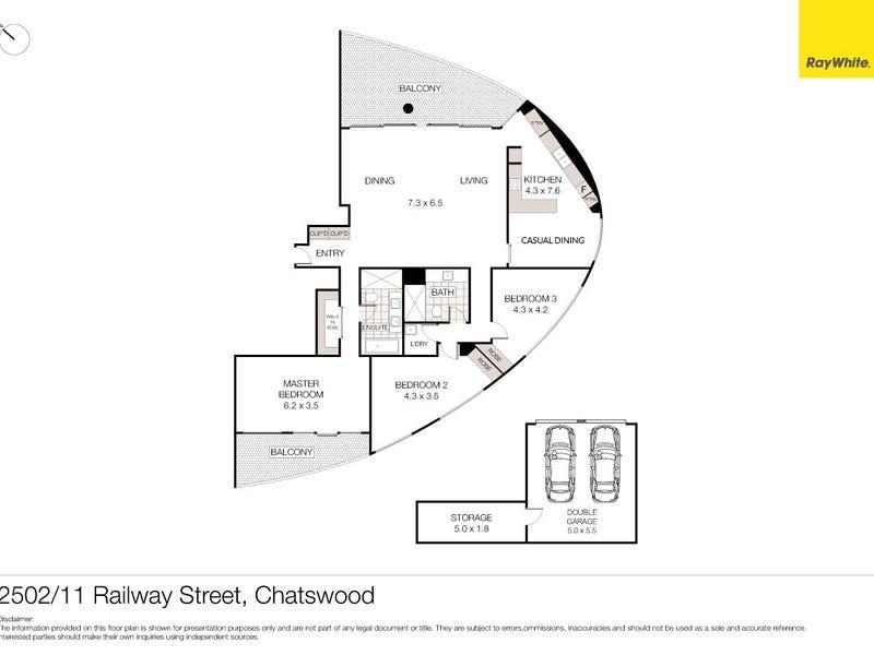 2502/11 Railway Street, Chatswood, NSW 2067 - floorplan