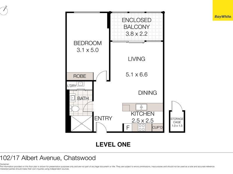102/17 Albert Avenue, Chatswood, NSW 2067 - floorplan